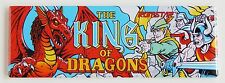 King of Dragons Marquee FRIDGE MAGNET (1.5 x 4.5 inches) arcade video game