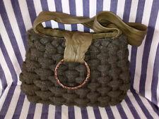 MAJO Leather, Tweed and Hand-Forged Bronze Handbag