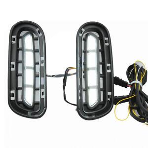 LED Daytime Running Light DRL Car Fog Day Driving Lamp Fit For Kia Stinger 18-20