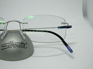 Silhouette 5500  Rhodium Silver 7000 19-150 Rimless Titanium Eyeglass Frame-NEW