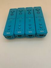 Lot of 4 Nintendo Wii Remote Blue Controllers Official RVL-003 - FOR PARTS ONLY