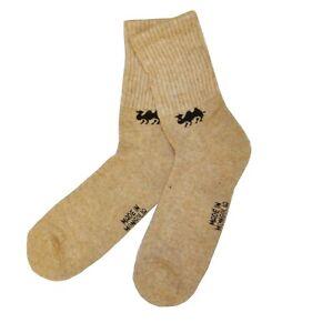 Camel Wool Natural Warm Winter Mongolian Ski Socks FREE Shipping Size US 10-12