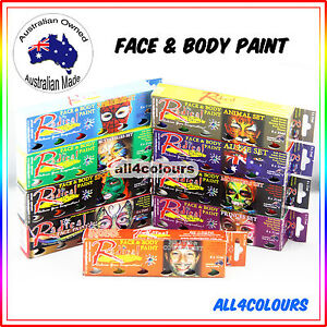 Australian Non-Toxic Face Painting Kit Set 6 Colours Pack  from Radical Paint