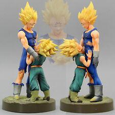 Set 2pcs Dragon Ball Z DBZ Dramatic Showcase Vegeta Trunks Figure 6-10cm NoBox