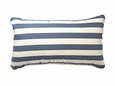 "Lumbar Pillows Sunbrella Mason Sapphire Stripes Rectangular 20""x12"" Set/2"