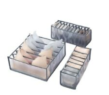 Foldable Drawer Organizer Divider Closet Storage Box For Underwear Bra Sock US