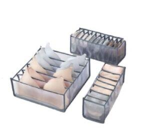 Foldable Drawer Organizer Divider Closet Storage Box For Underwear Bra Sock US