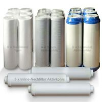ERSATZFILTERSET 3 Jahre Umkehrosmose Osmose Wasserfilter, 21 Ersatzfilter, SET 2