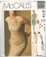 2114 UNCUT McCalls Sewing Pattern Misses Lined Sleeveless Dress 6 - 10 OOP SEW