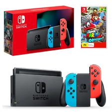 Nintendo Switch Neon Joy-Con Console with Super Mario Odyssey Bundle NEW