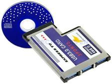 3 Port Hidden Inside Laptop USB 3.0 HUB to Express Card ExpressCard 54mm Adapter