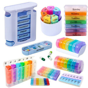 7 day Pill Box Large Organiser Tablet Container Case Medicine Storage Dispenser