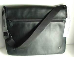 PERRY ELLIS PORTFOLIO Black Nylon Mens Messenger Bag Briefcase NEW NWT