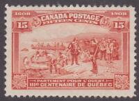 Canada 1908 #102 Quebec Tercentenary Issue (Champlain's Departure) F/VF MLH