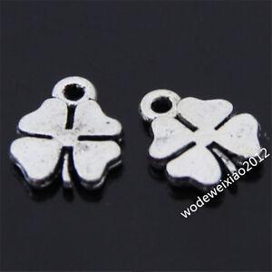 30pc Retro Tibetan Silver Lucky Clover Pendant Charms Beads  Wholesale  PL076