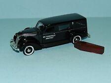 "MODIFIED Phoenix Mint 1/43  Studebaker Hearse Black With Coffin ""MC Funerals"""