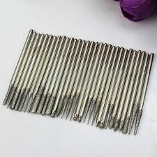 30Pcs Diamond Burr Bits Drill For Engraving Carving Dremel Rotary Tool Hot#