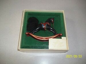 HALLMARK 1982 ROCKING HORSE CHRISTMAS ORNAMENT SECOND IN SERIES