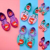 Toddler Child Kids Kids Girls Cartoon Casual Princess Cute Jelly Shoes Sandals