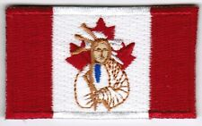 Canada Canadian First Nations Flag Patch Embroidered Iron On Applique Native