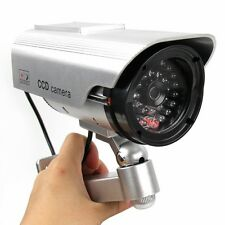 Solar Power Fake Outdoor Dummy Security Home CCTV Camera w/ LED Light Waterproof