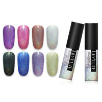LILYCUTE 5ml Holographic Gellack Shining Glitter Soak Off Nagel Kunst UV Gel