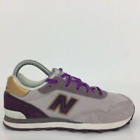 New Balance 515 Grey Purple Textile Sports Trainer Sneaker YC515CM UK 3 Eur 35.5