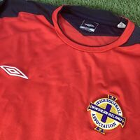 XL Northern Ireland Goalkeeper Shirt - VTG Retro Red Umbro Top - Mint