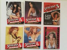 Scream Queens Horror rare 6 photo wrappers deal 1990s