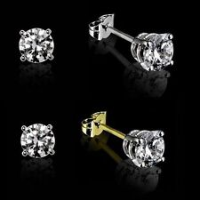 9 Carat Yellow Gold SI1 Fine Diamond Earrings