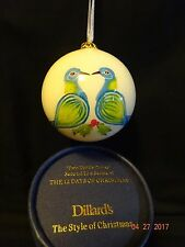 """Dillard's Second in Series 12 Days of Christmas Ornament """" Two Turtle Doves """""""