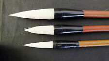 3 CHINESE XXL LM GOAT WRITING CALLIGRAPHY PAINTING BRUSH JAPANESE CRAFT ART TOOL