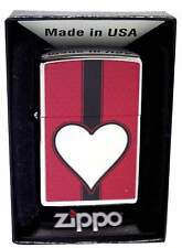 Personalised 28466 Heart High Polished Chrome Zippo Lighter Engraved free Gift