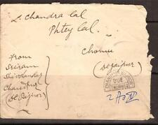 INDIA, 1928, COVER TO CHOMU, WITH POSTAGE DUE MARKINGS, CHRISTMAS DAY CANCEL