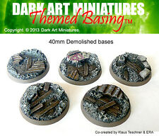 DAM Resin cast 40mm Demolished bases (5)