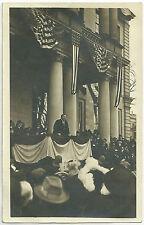 RARE REAL PHOTO POSTCARD 27th PRESIDENT WILLIAM TAFT SPEECH.  ca 1907-1915