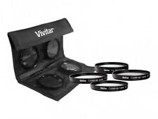 Vivitar 4Pcs Close Up +1/+2/+4/+10 Lens For Samsung NX200 NX100 (50-200mm Lens)