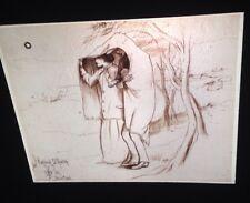 """John Millais """"highland Shelter"""" Pre-Raphaelite 35mm Art Slide. Rare"""