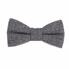 Mens Bow Tie Grey Wool Bowtie Bow Tie Pre tied Formal Bow Tie Groomsmen Grey Tie