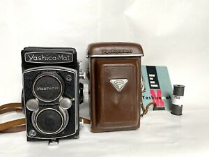 Yashica - Mat Medium Format TLR,Camera In Leather Case