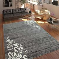 Oriental Rug Modern Grey White Floral Pattern Carpet Bedroom Mats Small Large XL