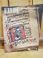 Etude: The Music Magazine, December 1950 Christmas Issue -Ad For Musical Animals