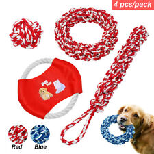 Indestructible Pet Dog Toy Ball Chew Molar Teeth Clean Rope Braided Rope Toys