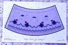 ~ NEW LITTLE MEMORIES RAIN RAIN GO AWAY SMOCKING DESIGN PLATE SUMMER  ~
