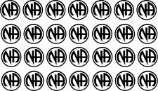 Lot of 28 Narcotics Anonymous or NA decals or stickers vinyl cut. Recovery decal