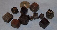 11x Limonite Psuedomorph After Pyrite Pennsylvania Mineral Specimens Crystals