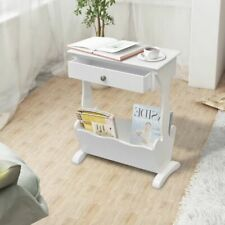 vidaXL Magazine Rack Melrose White Coffee Table Newspaper Holder Organiser
