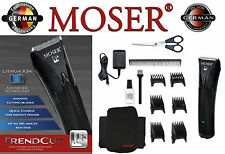 MOSER tendencia CUT LI + Red Batería BARBA CORTAPELOS 0,9mm-25mm + Capa