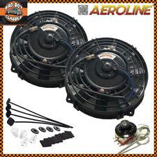 "7"" AeroLine Electric Radiator / Intercooler Fans x2 + Capillary Thermostat 80w"