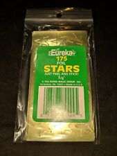 """3/4 inch Foil Stars by Eureka - 3/4"""" GOLD stickers - NEW pack of 175!"""